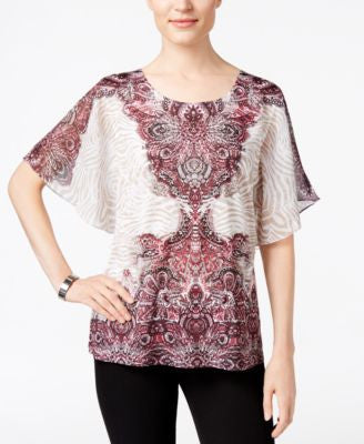 JM Collection Butterfly-Sleeve Top, Only at Vogily