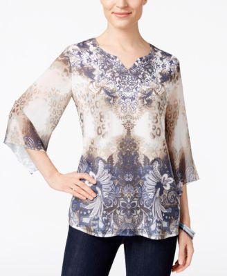 JM Collection Angel-Sleeve Top, Only at Vogily