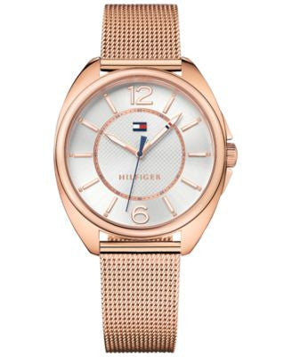 Tommy Hilfiger Women's Sophisticated Sport Rose Gold-Tone Stainless Steel Mesh Bracelet Watch 38mm 1