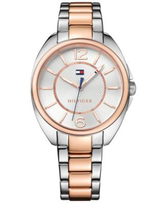 Tommy Hilfiger Women's Sophisticated Sport Two-Tone Stainless Steel Bracelet Watch 38mm 1781696