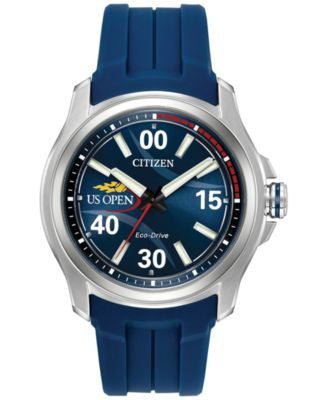 Citizen Unisex US Open Series Blue Strap Watch & Interchangeable Blue/Red Nato Strap 43mm AW2010-01L