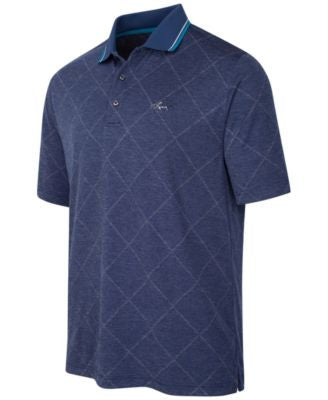Greg Norman For Tasso Elba Men's Grid Jacquard Performance Polo, Only at Vogily