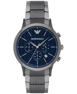 Emporio Armani Men's Chronograph Renato Gunmetal Stainless Steel Bracelet Watch 43mm AR2505