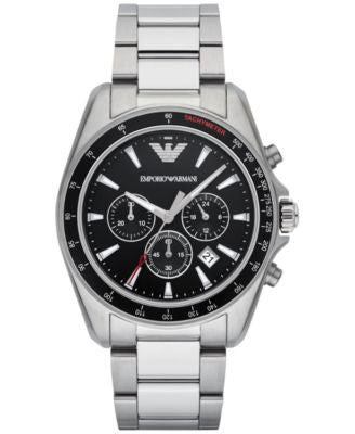 Emporio Armani Men's Chronograph Sigma Stainless Steel Bracelet Watch 44mm AR6098