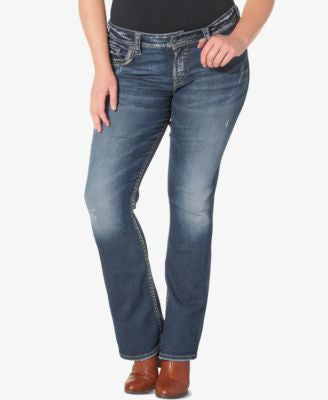 Silver Jeans Plus Size Suki Medium Wash Bootcut Jeans