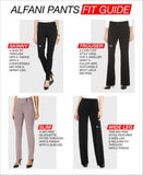 Alfani Petite PRIMA Straight-Leg Extended-Tab Trousers, Only at Vogily