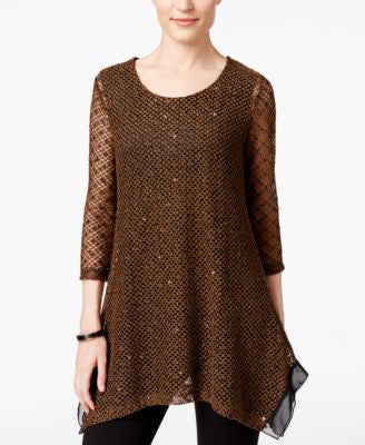 JM Collection Sequined Knit Tunic, Only at Vogily