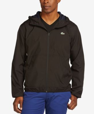 Lacoste Lightweight Nylon Full-Zip Jacket