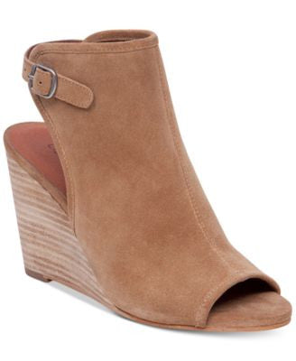 Lucky Brand Women's Risza Peep Toe Wedges