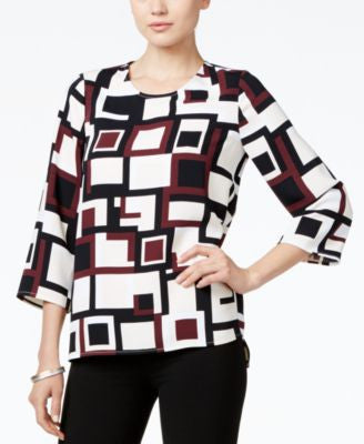 Alfani Petite Printed Top, Only at Vogily