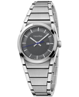 Calvin Klein Women's Swiss Step Stainless Steel Bracelet Watch 30mm K6K33143