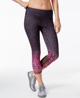 Ideology Pink Ribbon Printed Capri Leggings, Only at Vogily
