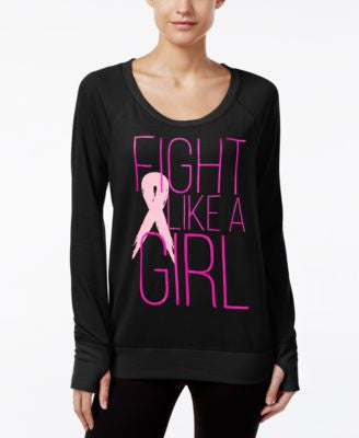 Ideology Pink Ribbon Long-Sleeve Pullover, Only at Vogily