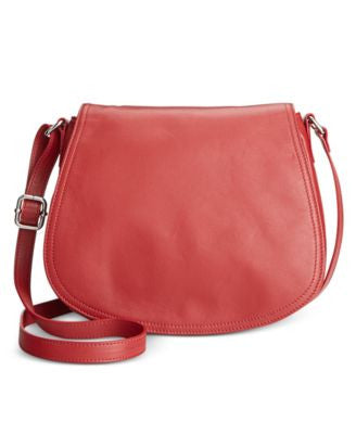 Giani Bernini Nappa Leather Full Flap Saddle Bag, Only at Vogily