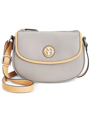 Giani Bernini Saffiano Top-Zip Mini Saddle Bag, Only at Vogily