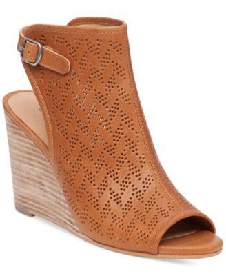Lucky Brand Women's Risza Perforated Wedge Sandals