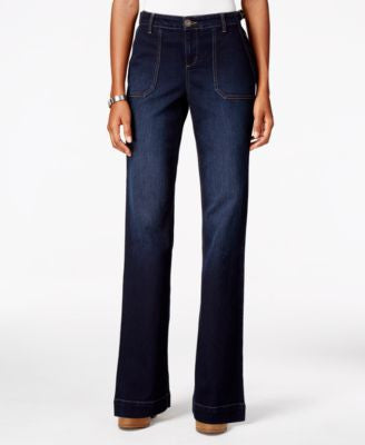 Style & Co. Petite Jewel Wash Bootcut Jeans, Only at Vogily