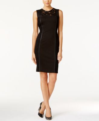 Calvin Klein Lace-Panel Sheath Dress