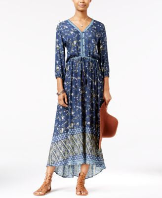 American Rag Printed High-Low Maxi Dress, Only at Vogily