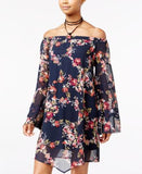 American Rag Off-The-Shoulder Floral-Print Shift Dress, Only at Vogily