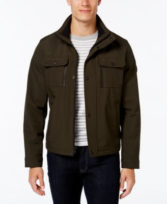 MICHAEL Michael Kors Men's Dual-Pocket Softshell Jacket