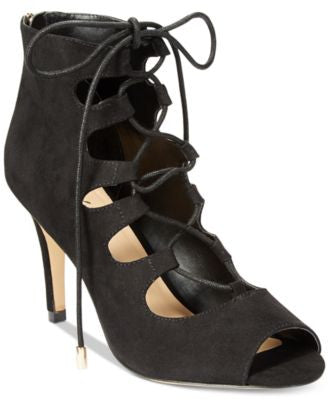 Thalia Sodi Luana Lace-Up Peep-Toe Dress Pumps, Only at Vogily