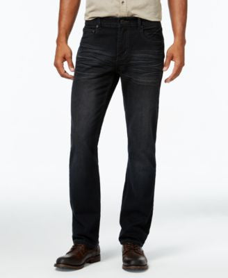 INC International Concepts Men's Gusto Slim-Fit Black Wash Jeans, Only at Vogily
