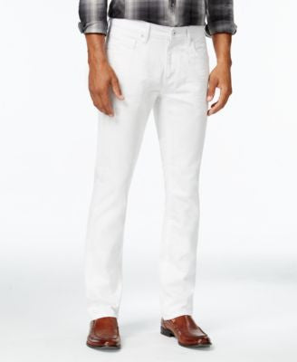 INC International Concepts Men's Zachary Slim-Fit White Wash Jeans, Only at Vogily
