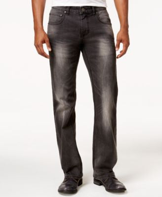 INC International Concepts Men's Gray Wash Stretch-Denim Jeans, Only at Vogily