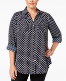 Charter Club Plus Size Utility Shirt, Only at Vogily