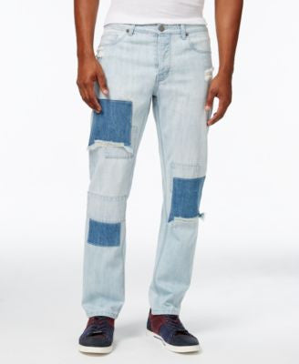 Jaywalker Men's Patchwork Indigo Jeans