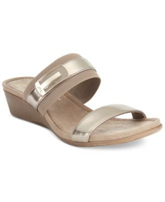 Anne Klein Catchme Slide Wedge Sandals