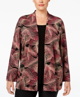 JM Collection Plus Size Layered-Look Blouse, Only at Vogily