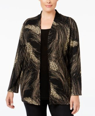JM Collection Plus Size Printed Layered-Look Top, Only at Vogily