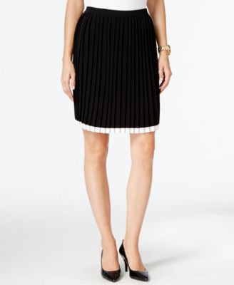MICHAEL Michael Kors Pleated A-Line Skirt