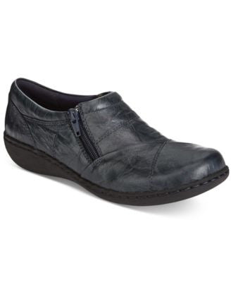 Clarks Women's Fianna Ellie Side-Zip Flats