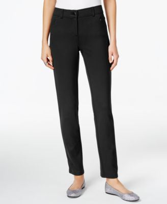 Style & Co. Petite Ponte Slim-Leg Pants, Only at Vogily