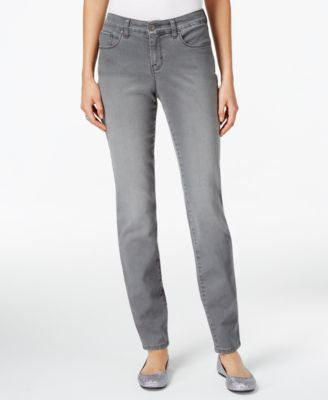 Style & Co. Tummy-Control Skinny-Leg Jeans, Whisper Grey Wash