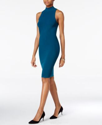 Bar III Mock-Turtleneck Ottoman Bodycon Dress, Only at Vogily