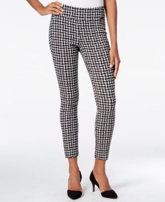 Bar III Checkered Skinny Pants, Only at Vogily