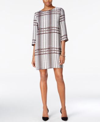 Bar III Printed Shift Dress, Only at Vogily
