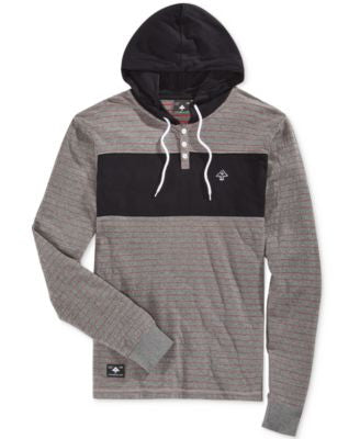 LRG Men's Henley Hooded Sweatshirt