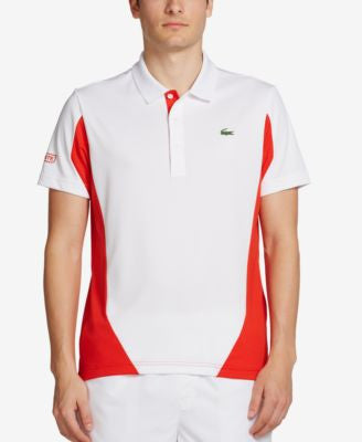Lacoste Men's Colorblocked Ultra Dry Pique Polo