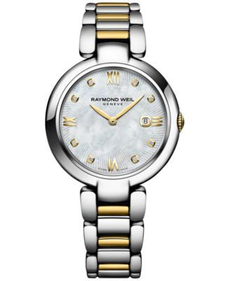 Raymond Weil Women's Swiss Shine Diamond Accent Two-Tone PVD Stainless Steel Bracelet Watch with Int