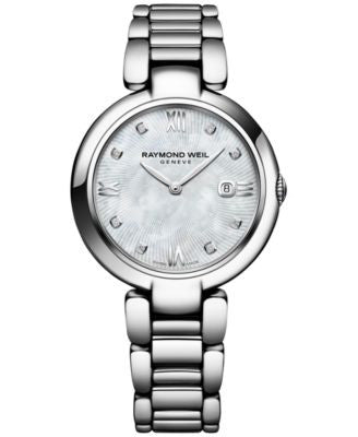 Raymond Weil Women's Swiss Shine Diamond Accent Stainless Steel Bracelet Watch with Interchangeable