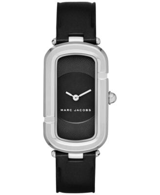 Marc Jacobs Women's North-South Black Leather Strap Watch 23x39mm MJ1493