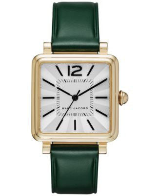 Marc Jacobs Women's Vic Dark Green Leather Strap Watch 30mm MJ1492