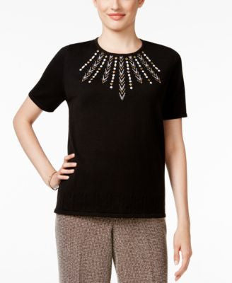 Alfred Dunner Petite Madison Park Embellished Sweater