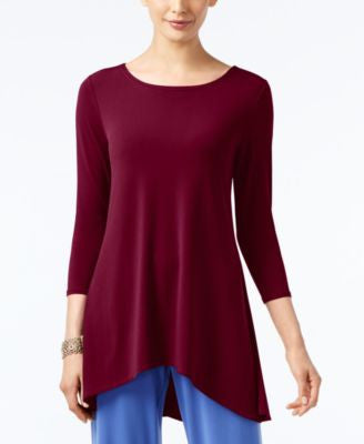 Alfani Petite High-Low Jersey Tunic Top, Only at Vogily