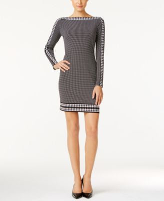 MICHAEL Michael Kors Border-Print Sheath Dress